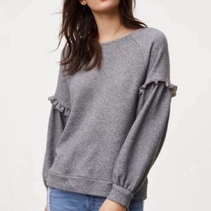 Loft Soft & Cozy Ruffle Sleeve Sweater